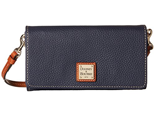 Dooney Bourke Pebble Leather Daphne Crossbody Wallet Midnight Blue Wallet Handbags