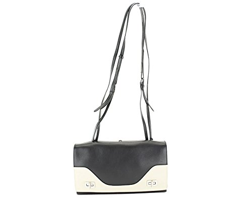 Prada Womens Vitello Soft Shoulder Bag – Black Leather