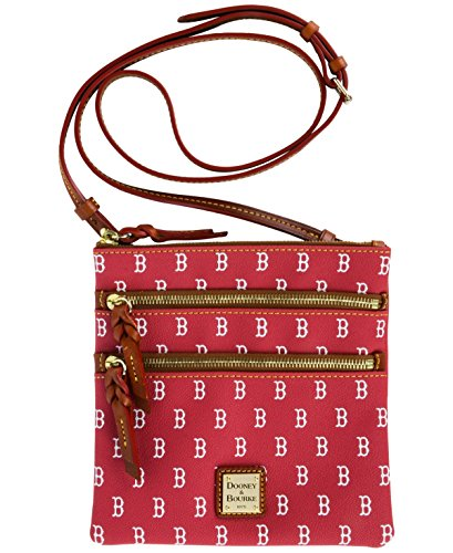 Dooney & Bourke Boston Red Sox Triple-Zip Crossbody Bag Navy/Red