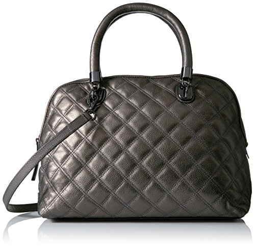 Cole Haan Benson Quilted Dome Satchel, Gunmetal