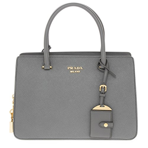 "Prada Women's ""Saffiano City C"" Satchel Grey"