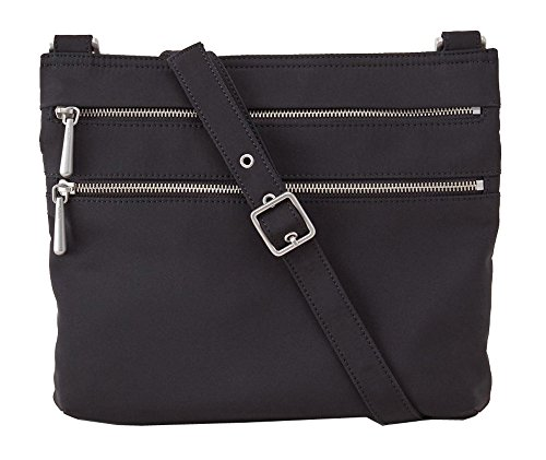 Hobo Handbags Durafiber Hands Off Crossbody- Black