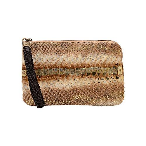 NADA SAWAYA Women's OLIVIA Python Wristlet Clutch