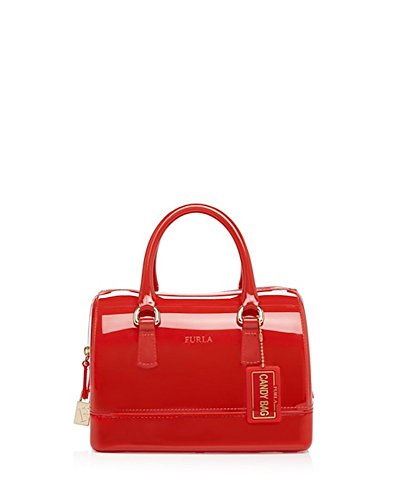 Furla Candy Cooke Mini Small Satchel, Carminio Red, One Size