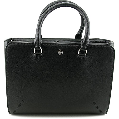 Tory Burch Women's Robinson Small Zip Tote, Black, One Size