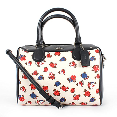 Coach Tea Rose Flower Mini Bennett Satchel F57627 Chalk Multi
