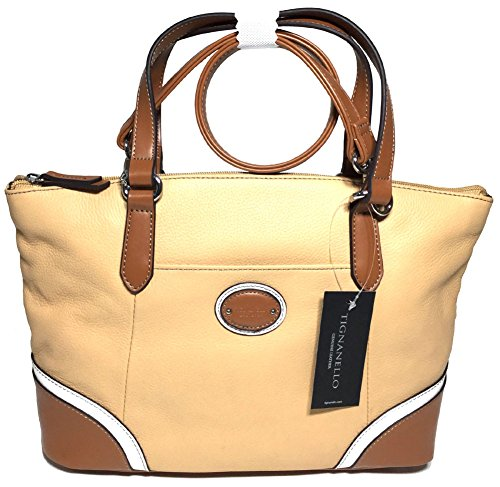 Tignanello Richmond Conv. Satchel Dune/White/Cognac T59510A