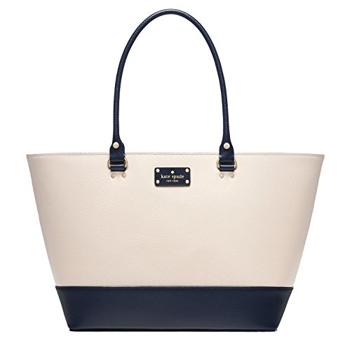 Kate Spade New York Wellesley Medium Harmony Tote, Pebble/French Navy Blue