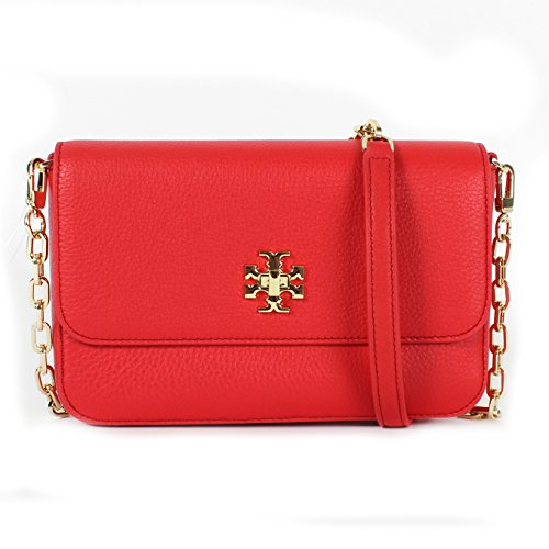 Tory Burch Mercer Classic Cross-body Bag, Vermillion, One Size