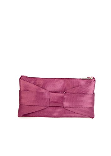 Harveys Seatbelt Bags Bow Mini Clutch, Plum