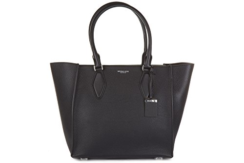 Michael Kors women's leather shoulder bag original gracie lg tote black