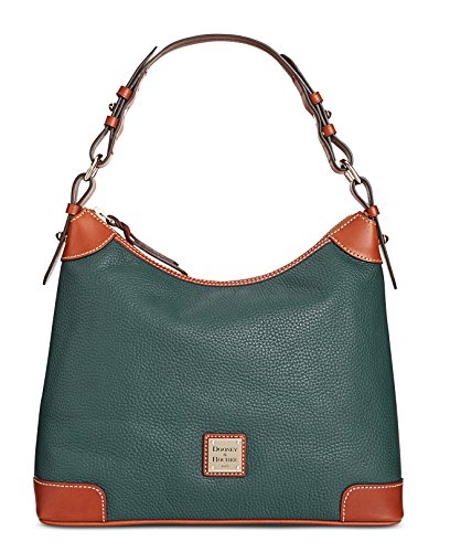 Dooney & Bourke Pebble Grain Leather Hobo (Hunter)