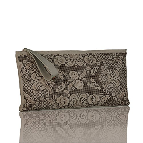 NADA SAWAYA Women's GIGI Large Rectangular Laser-cut Wristlet Clutch