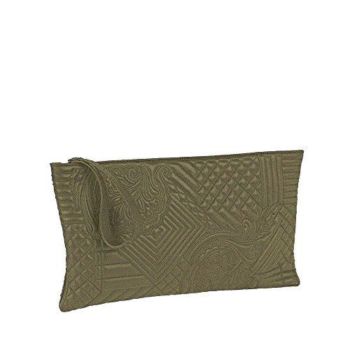NADA SAWAYA Women's GIGI Large Rectangular Embroidered Wristlet Clutch