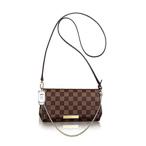 Sweet Women's Favorite Domier Ebene Canvas Cross Body Bag Double-use Chain Clutch Handbag