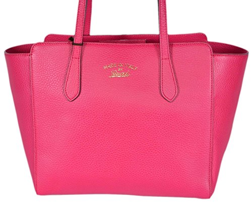 Gucci Women's Small Leather Trademark Logo Swing Tote (Blossom Pink)