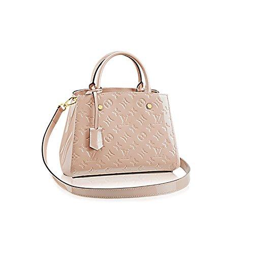 Authentic Louis Vuitton Montaigne BB Monogram Vernis Leather Handbag Article: M50173 Made in France