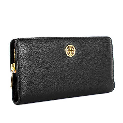 Tory Burch Landon Hidden Zip Continental Wallet Black