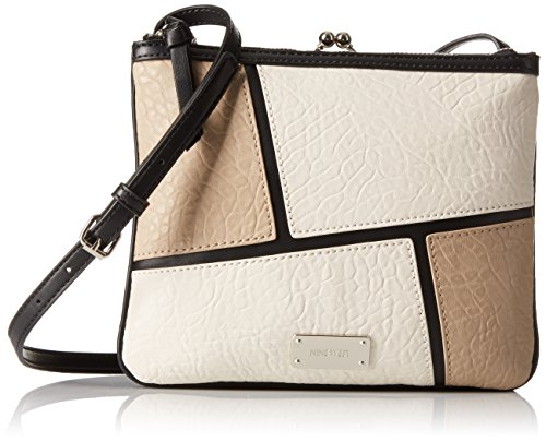 Nine West Jaya Crossbody Colorblock, Black/Sandstone/Milk