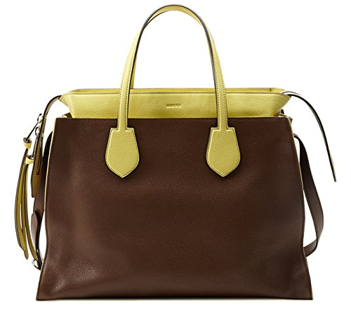 Gucci women's leather shoulder bag original ramble cellarius brown