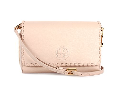 Tory Burch Marion Flat Wallet Crossbody Bag, Light Oak, One Size