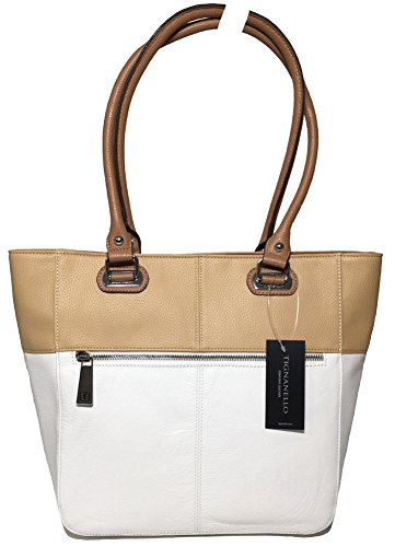 Tignanello Perfect Pockets Medium Tote, White/Dune, T67020