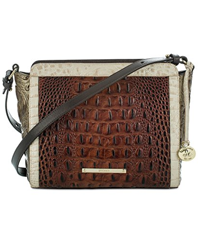NEW AUTHENTIC BRAHMIN CARRIE CROSSBODY BAG (Pecan Azuma Tri Texture)