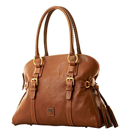 Dooney & Bourke Florentine Domed Buckle Chestnut Satchel