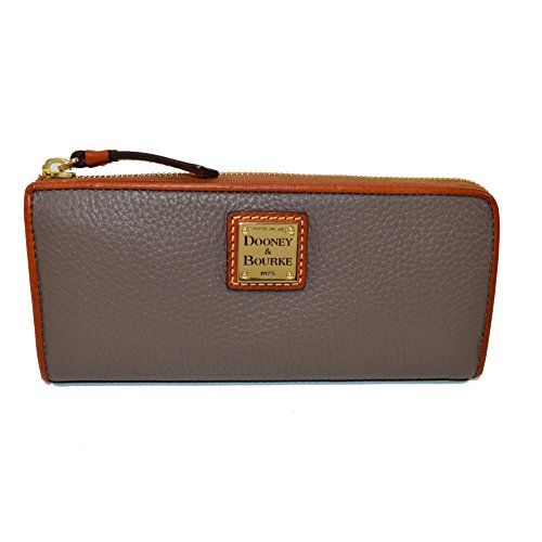 Dooney & Bourke Pebble Leather Zip Clutch Elephant