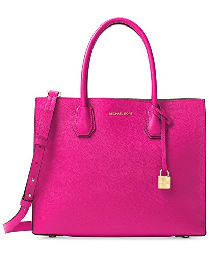 MICHAEL KORS STUDIO Mercer Large Leather Tote, Raspberry