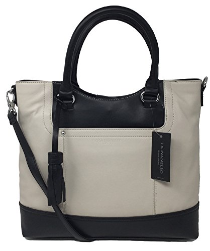 Tignanello Smooth Operator Shopper (Eggshell/Black)