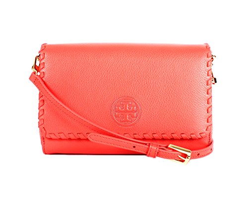 Tory Burch Marion Flat Wallet Crossbody Bag, Spiced Coral, One Size