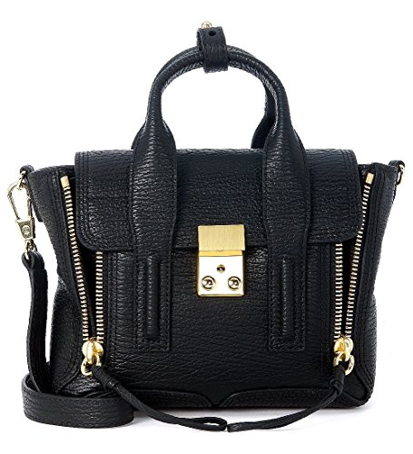 3.1 Phillip Lim Women's 3.1 Phillip Lim Pashli Black Leather Mini Satchel Black
