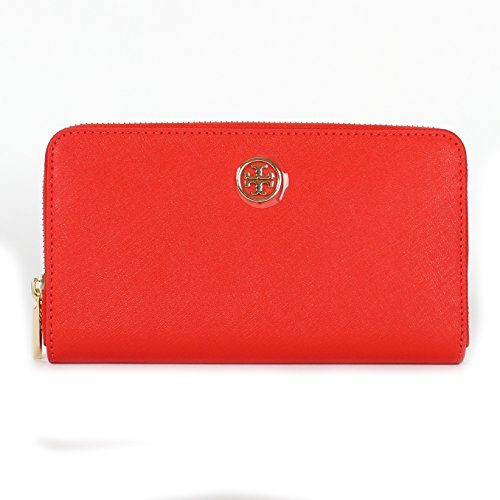 Tory Burch Robinson Zip Continental Wallet, Style No. 33650 Poppy Red