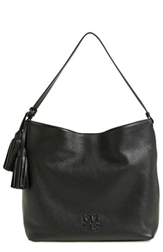 Tory Burch Thea Hobo Shoulder Black Leather Bag