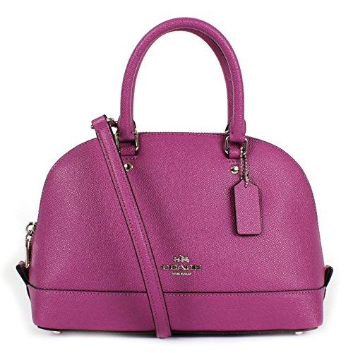 COACH MINI SIERRA SATCHEL IN CROSSGRAIN LEATHER F57555 HYACINTH