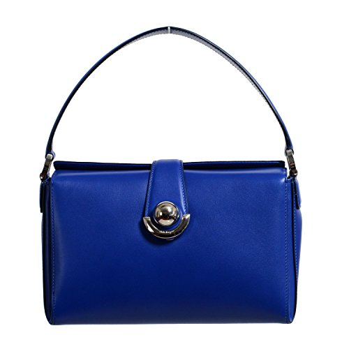 "Salvatore Ferragamo Women's ""Alisa"" Blue Leather Handbag Bag"
