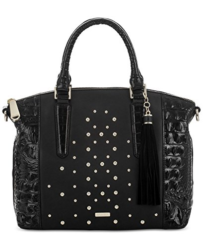 Brahmin Duxbury Satchel Black Nara w/ Studs Leather Bag