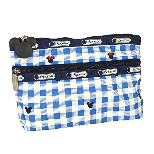 LeSportsac x Disney Minnie Mouse Cosmetic Clutch Zip Bag, Checks & Bows