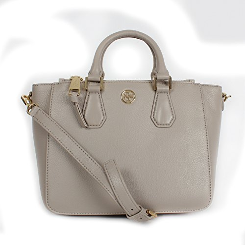Tory Burch Landon Mini Square Tote French Grey