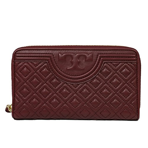 Tory Burch Leather Wallet Fleming Zip Around Port Royal