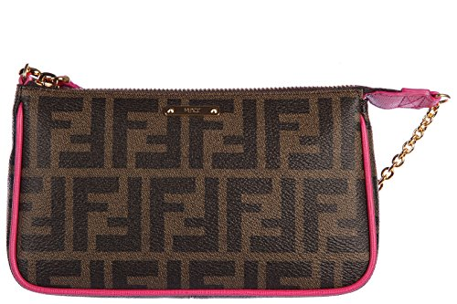 Fendi women's clutch handbag bag purse zucca
