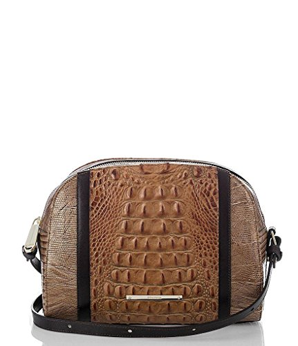 Brahmin Abby Crossbody Genuine Leather (Toasted Almond)