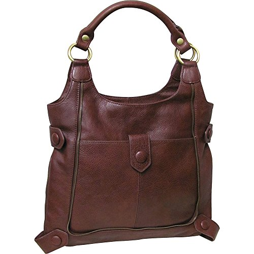 AmeriLeather Judelle Universal Shoulder Bag (Chestnut Brown)