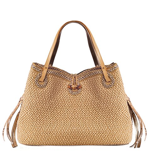 Eric Javits Luxury Fashion Designer Women's Handbag -Watuti II – Peanut