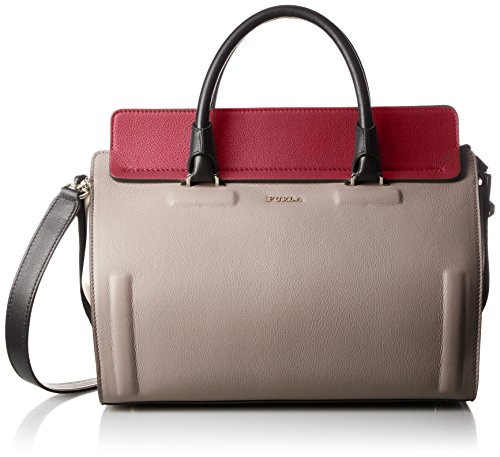 Furla Valentina Medium Satchel Tortora/Rubino Satchel Handbags