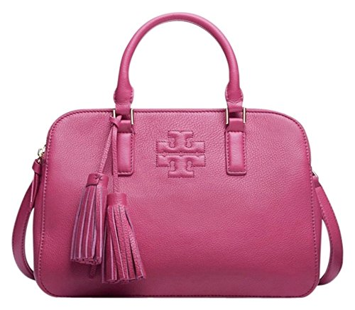 Tory Burch Thea Small Rounded Double-zip Satchel, Carnation Red
