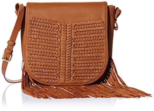 BCBGeneration WPZ625GN Saddle Fringe Trim Shoulder Bag