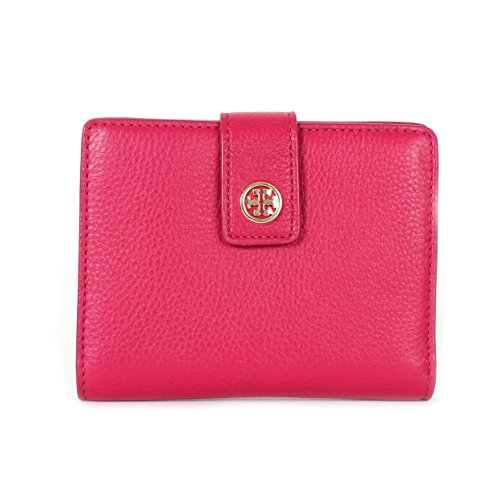 Tory Burch Landon Passport Case Carnation Red