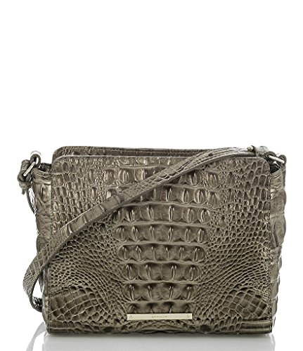 NEW AUTHENTIC BRAHMIN CARRIE CROSSBODY BAG (Pewter Melbourne)